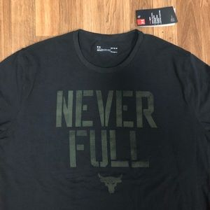 💪 NWT Under Armour Project Rock Never Full Shirt